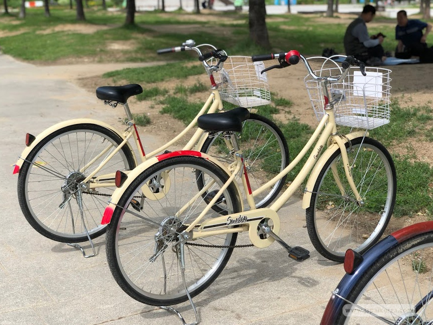รูปแบบจักรยานที่มีให้เลือก ในจุดเช่าจักรยาน Yeouinaru