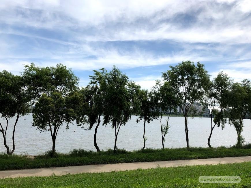 บรรยากาศ ริมแม่น้ำ ฮันกัง เกาหลี