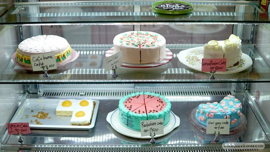 เมนู เค้ก ในร้าน Dinga Cake House