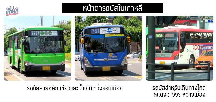 ประเภท รถบัส ในเกาหลี