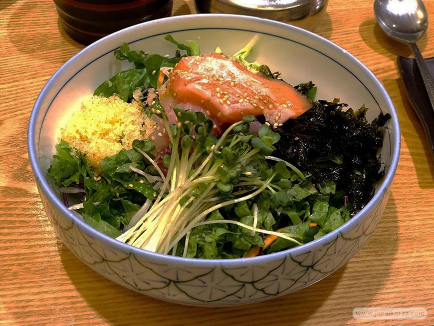 ข้าวหน้าปลาดิบ ซาชิมิ เกาหลี