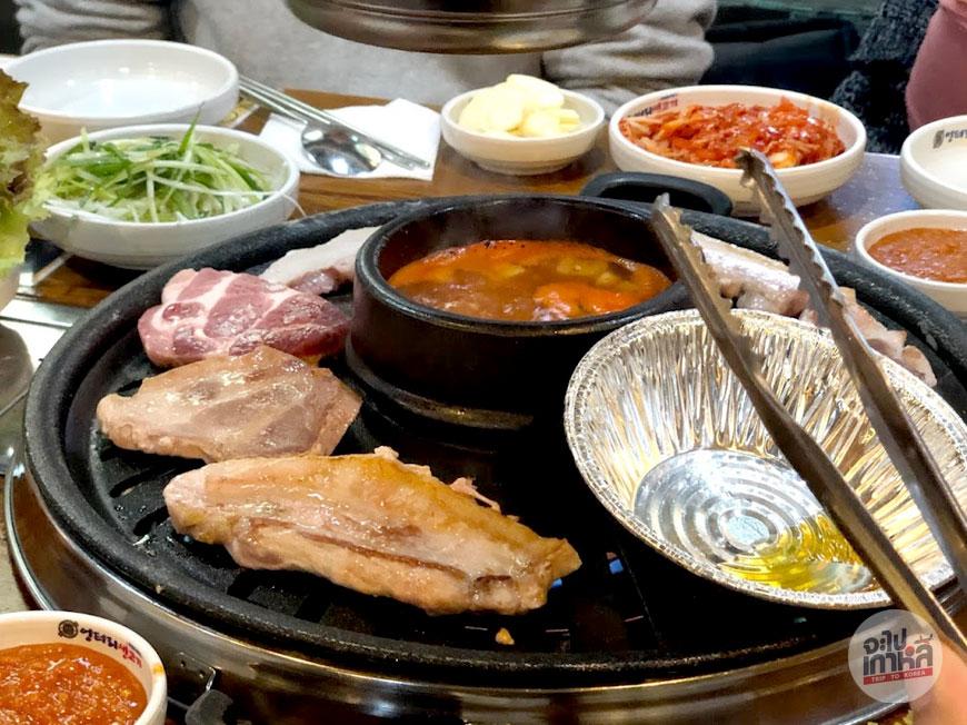 pork belly bbq in myeongdong