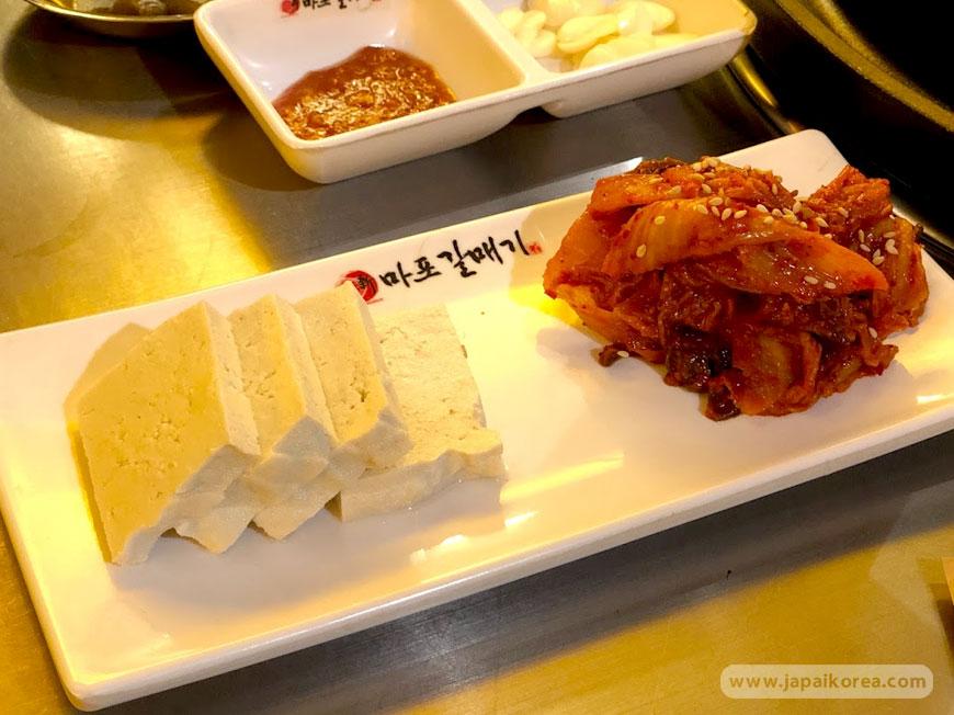 Tofu and Kimchi เต้าหู้อ่อน เกาหลี