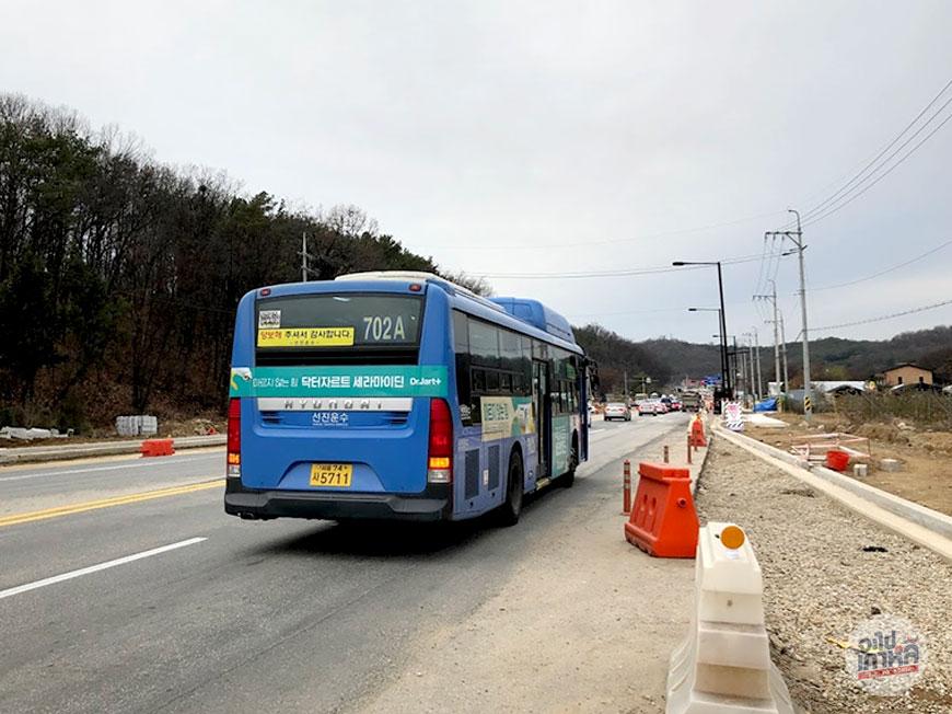 รถบัสเกาหลี สาย 702A ไป สุสานซอโอรึง
