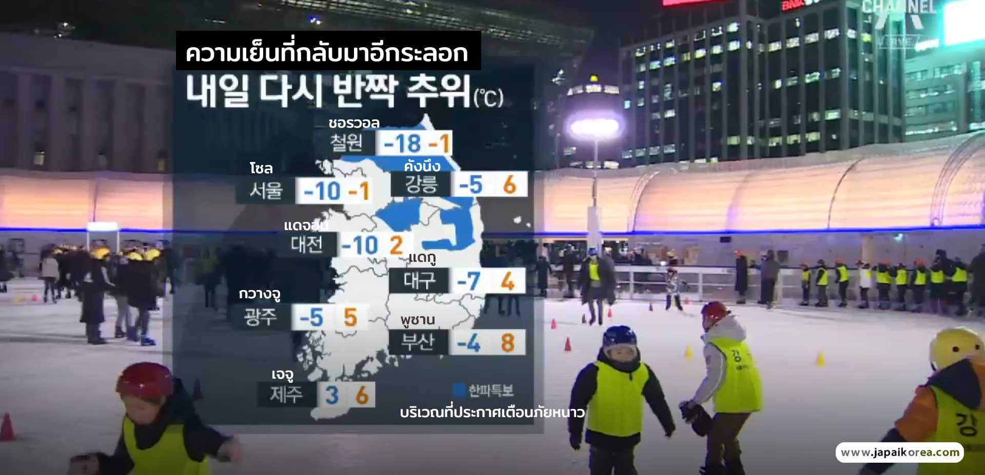 อากาศเกาหลี มกราคม